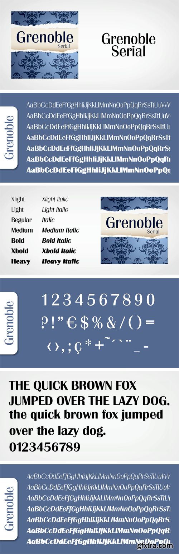 Grenoble Serial Font Family