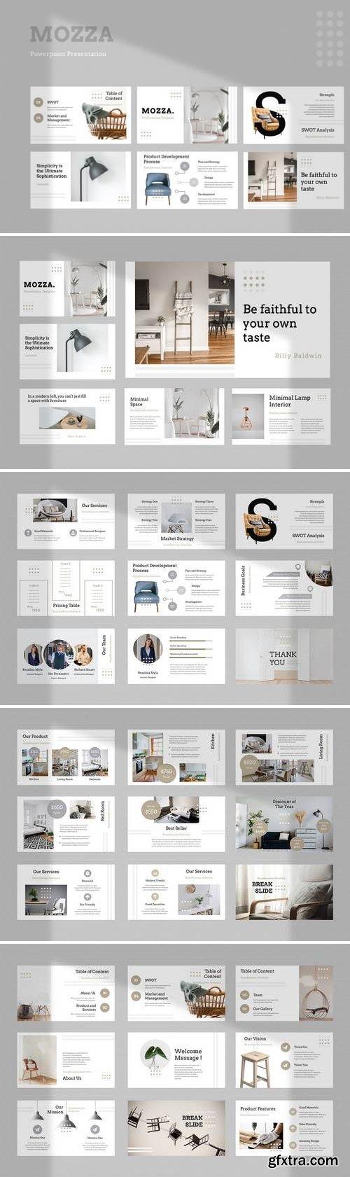Mozza Furniture - Powerpoint, Keynote, Google Sliders Templates