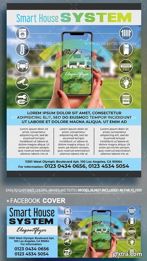 Smart House System V1 2018 Flyer PSD Template
