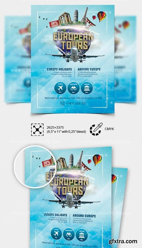 European Tours V7 2018 PSD Flyer Template