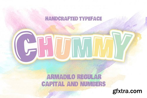 Chummy covered Armadilo typeface