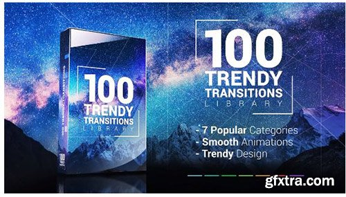 100 Trendy Transitions Library - Premiere Pro Templates 138283