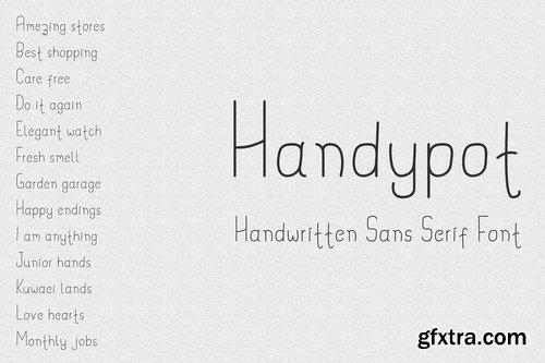 CM - Handypot - Handwritten Font 3170861