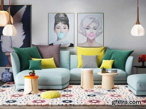 Modern Living Room 31 Interior Scene