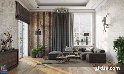 Modern Living Room 32 Interior Scene