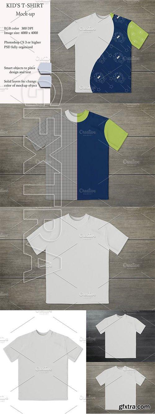 CreativeMarket - Kids t-shirt mockup 3055588