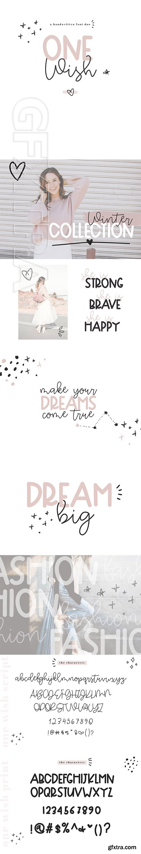 CreativeMarket - One Wish - Handwritten Font Duo 3050836