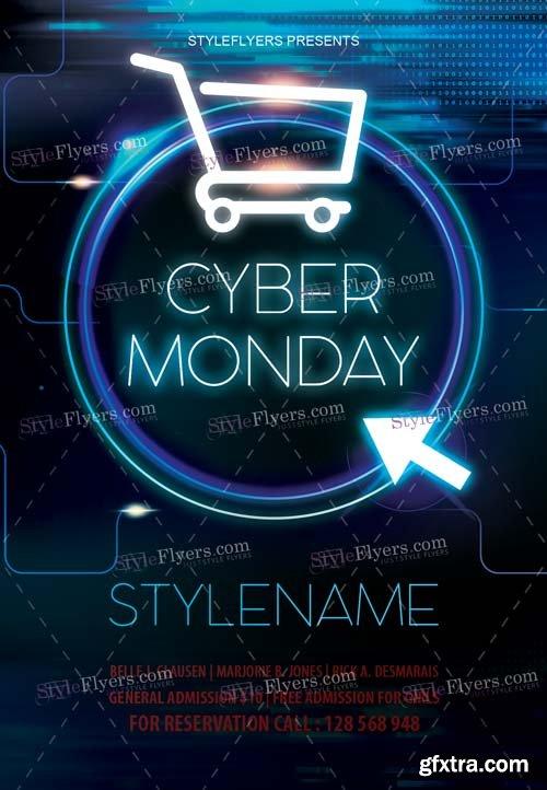 Cyber Monday V30 2018 Flyer PSD Template