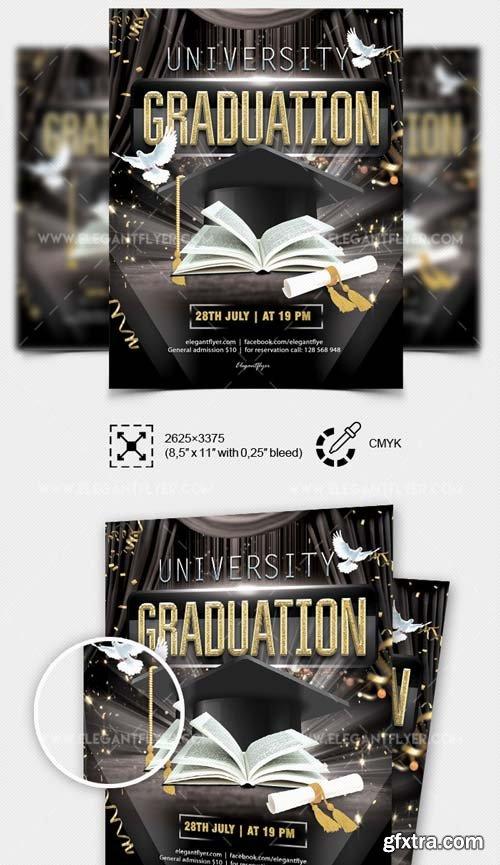 University Graduation V4 2018 Flyer in PSD