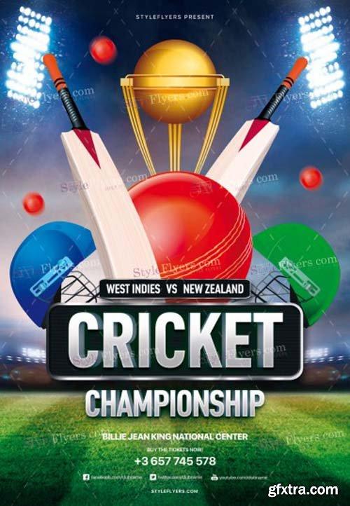 Cricket Championship V3 2018 PSD Flyer Template