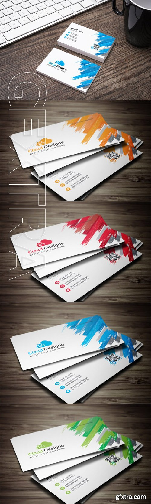 Corporate Business Card Color set
