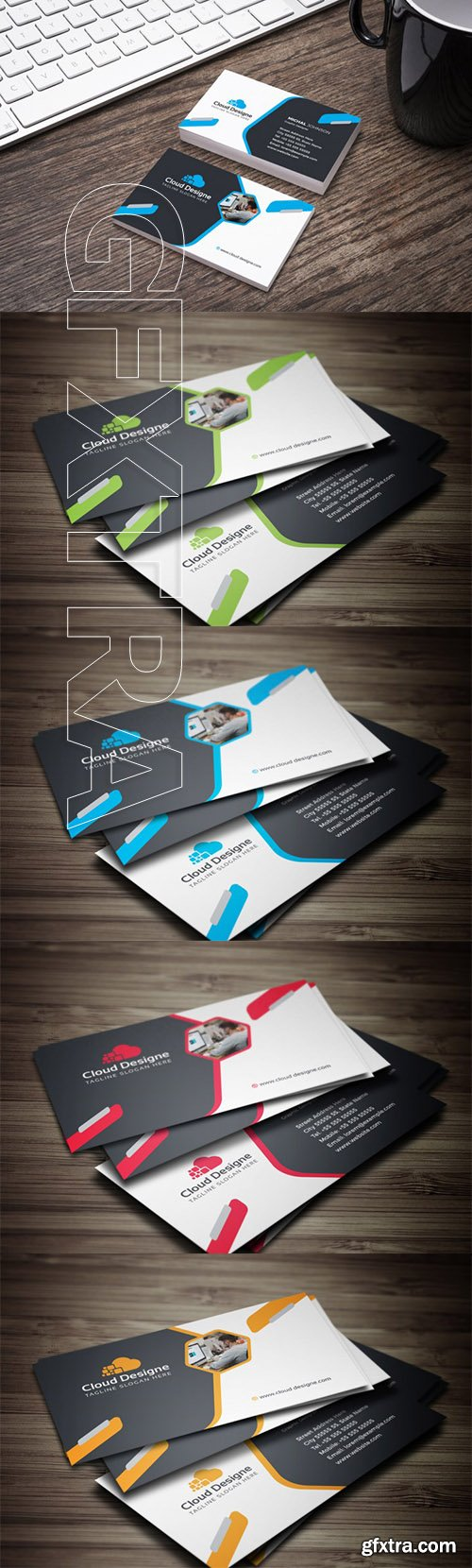 Corporate Business Card Color set 1
