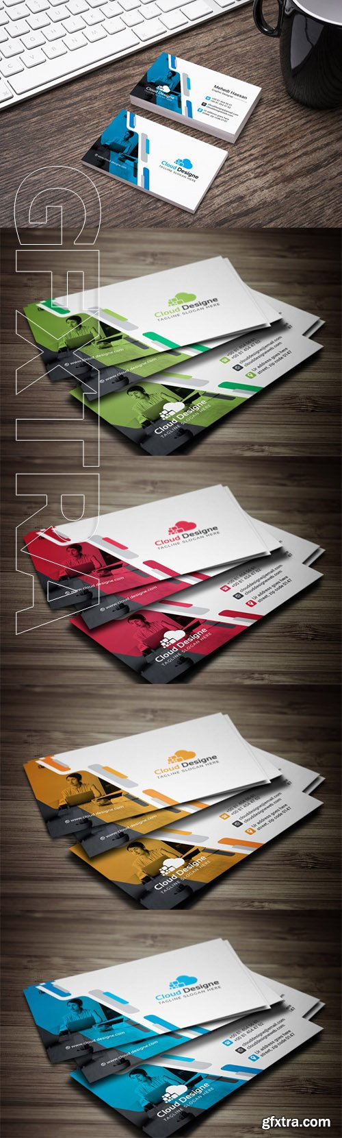 Corporate Business Card Color set 2