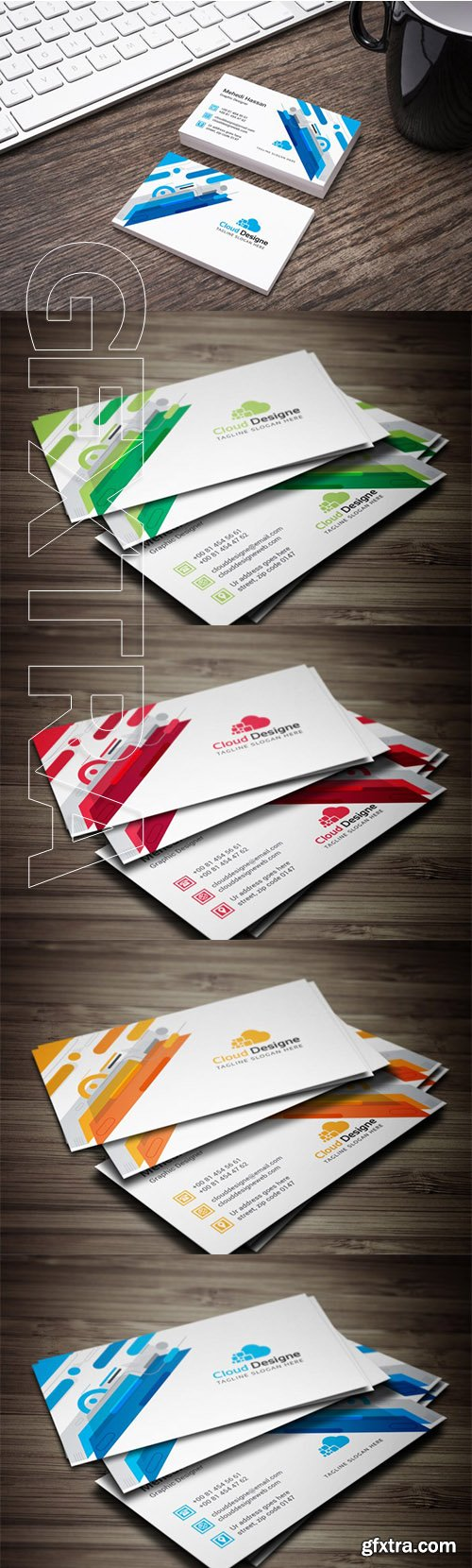 Corporate Business Card Color set 3