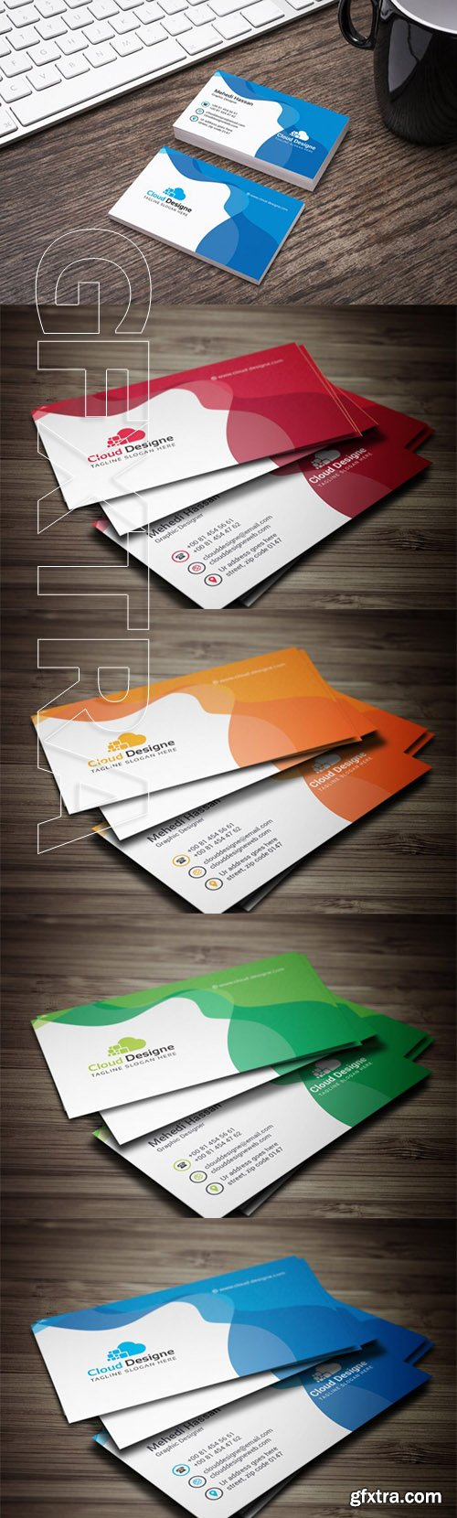 Corporate Business Card Color set 4
