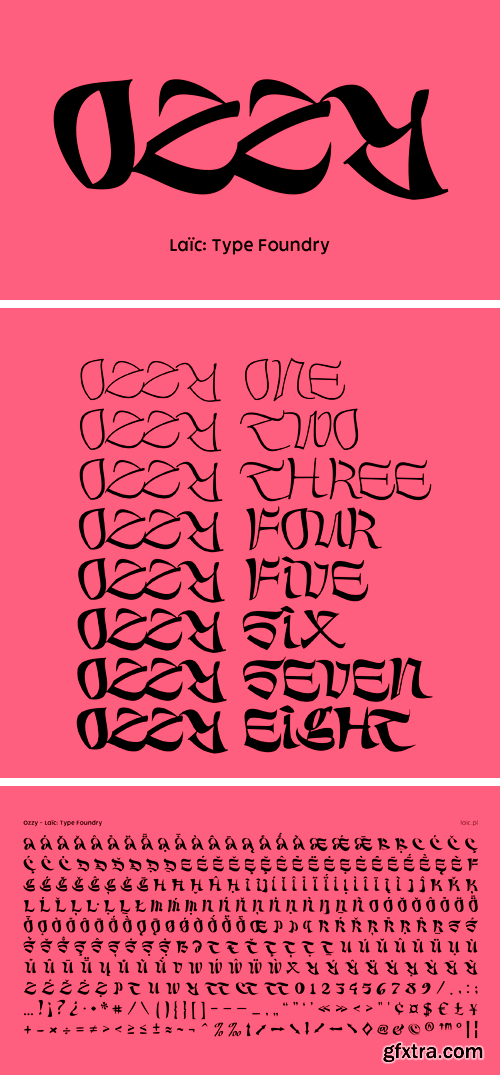 Ozzy Font Family