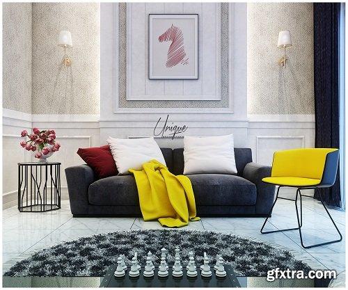 Modern Living Room 34 Interior Scene