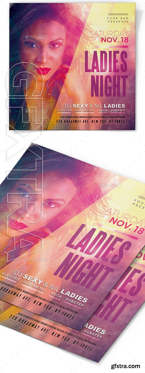 GraphicRiver - Ladies Night Flyer Template 22735098