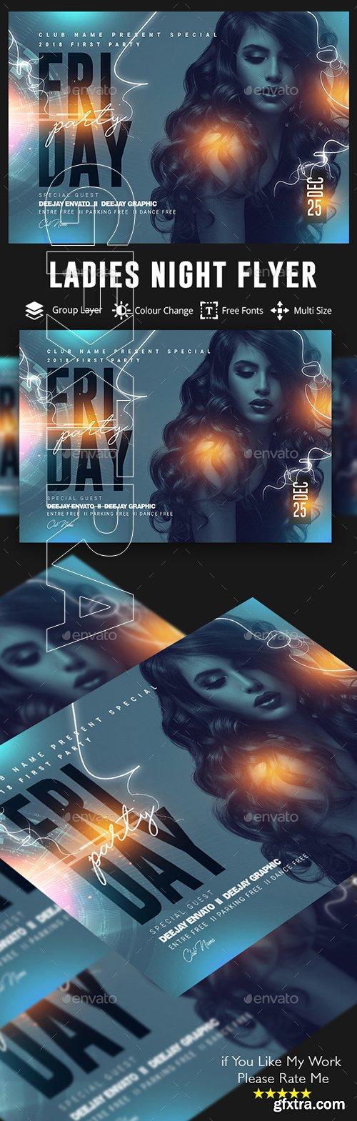 GraphicRiver - Ladies Night Party Flyer 22759245