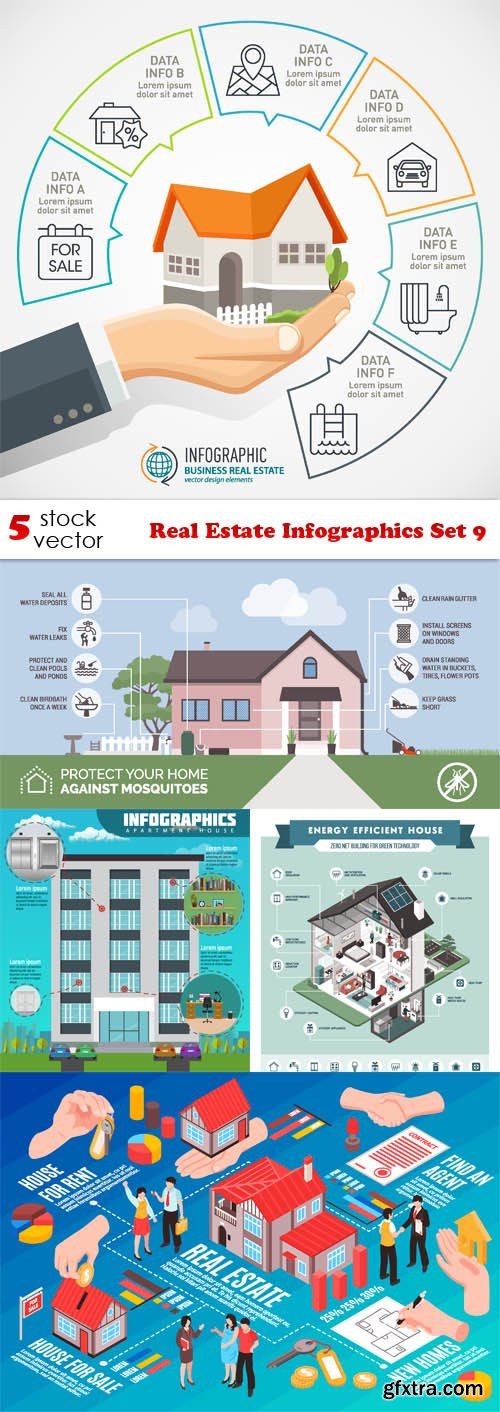 Vectors - Real Estate Infographics Set 9
