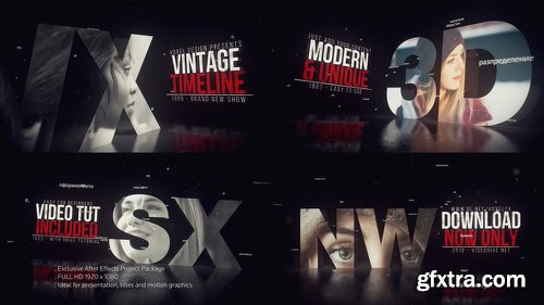 Videohive Vintage Timeline Title 22861082