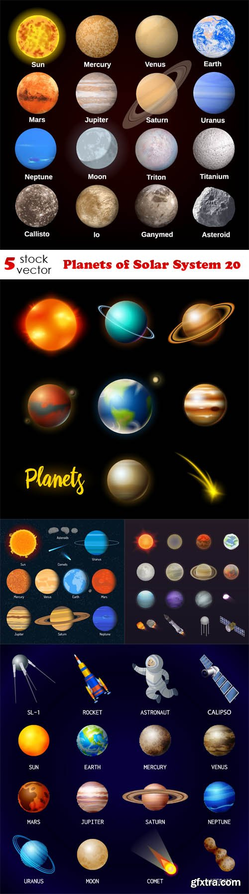 Vectors - Planets of Solar System 20