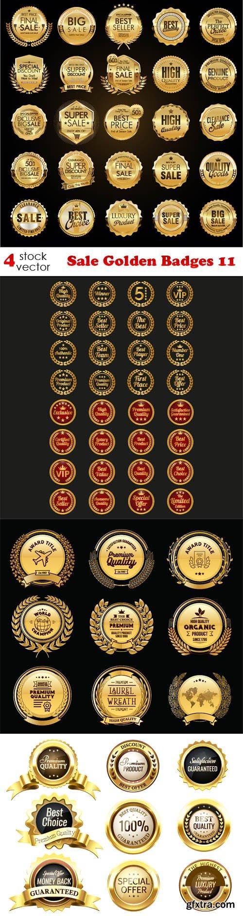Vectors - Sale Golden Badges 11