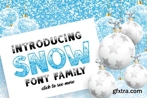 Fontbundles SNOW - Font Family for Christmas!