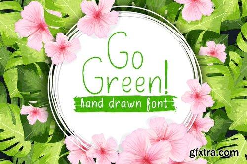 FontBundles Go Green - Handdrawn Font - 2 Fonts