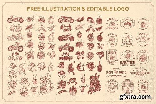 CreativeMarket Ultralife Typeface 2960622