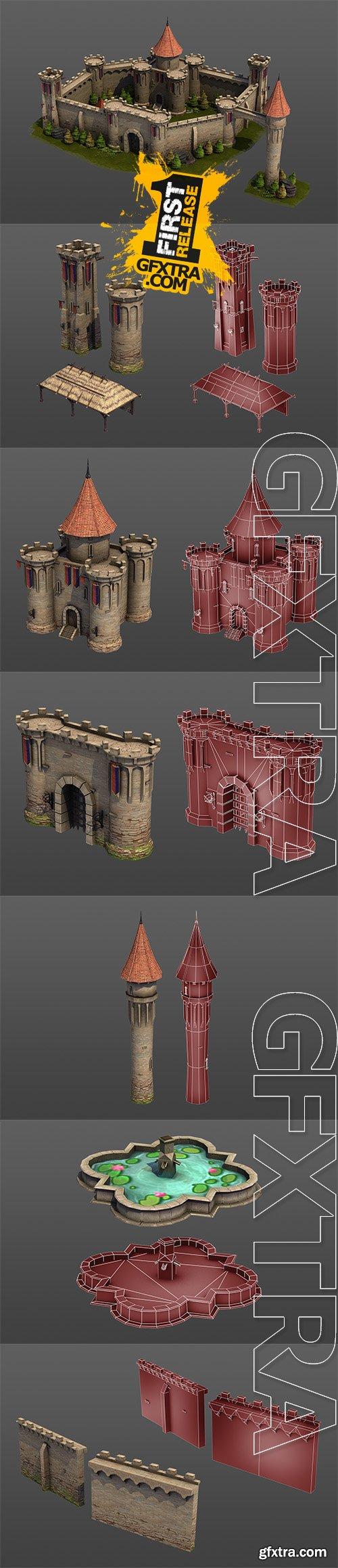Cubebrush - Medieval Castle