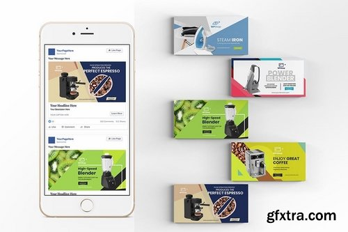 20 Facebook Post Banner - Products Vol 04