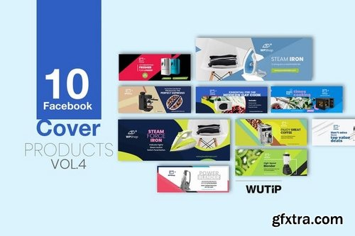 10 Facebook Cover - Products Vol 04