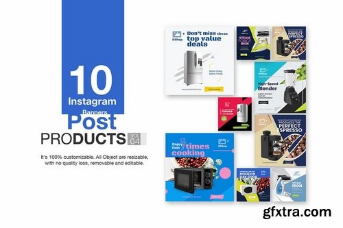 10 Instagram Post Banner-Products Vol 04