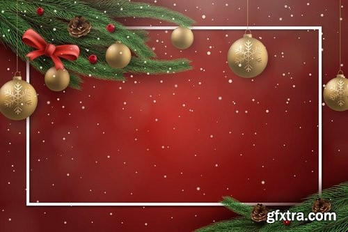Merry Christmas Vector Backgrounds