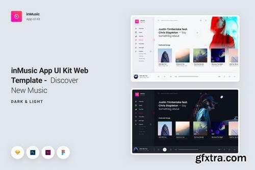 inMusic App UI Kit Web Template - Discover