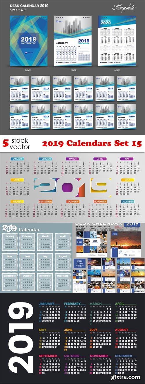 Vectors - 2019 Calendars Set 15