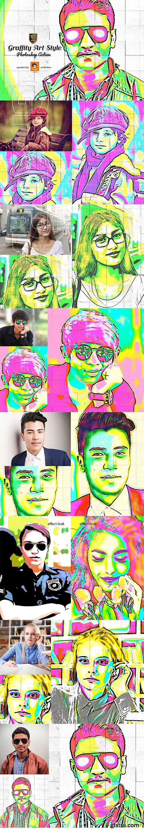 CreativeMarket - Graffity Art Style Photoshop Action 3072169