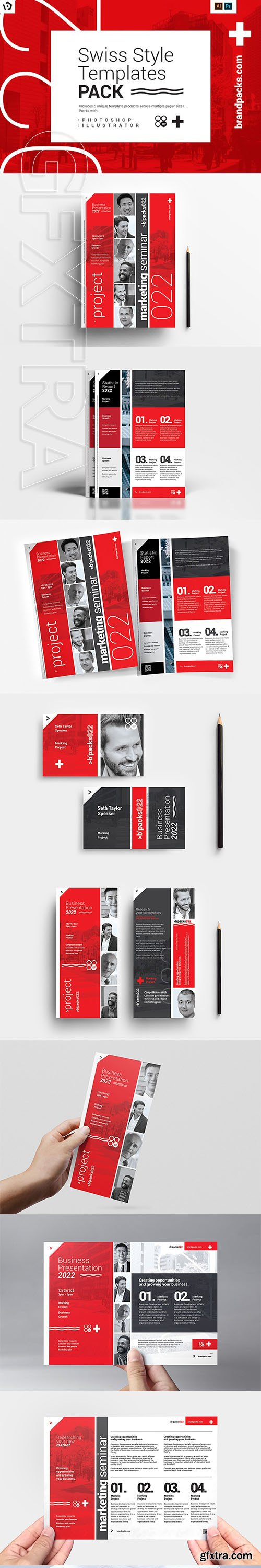 CreativeMarket - Swiss Style Templates Pack 3069403