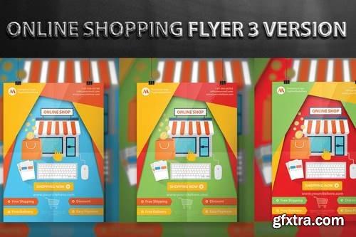Online Shopping Flyer Design