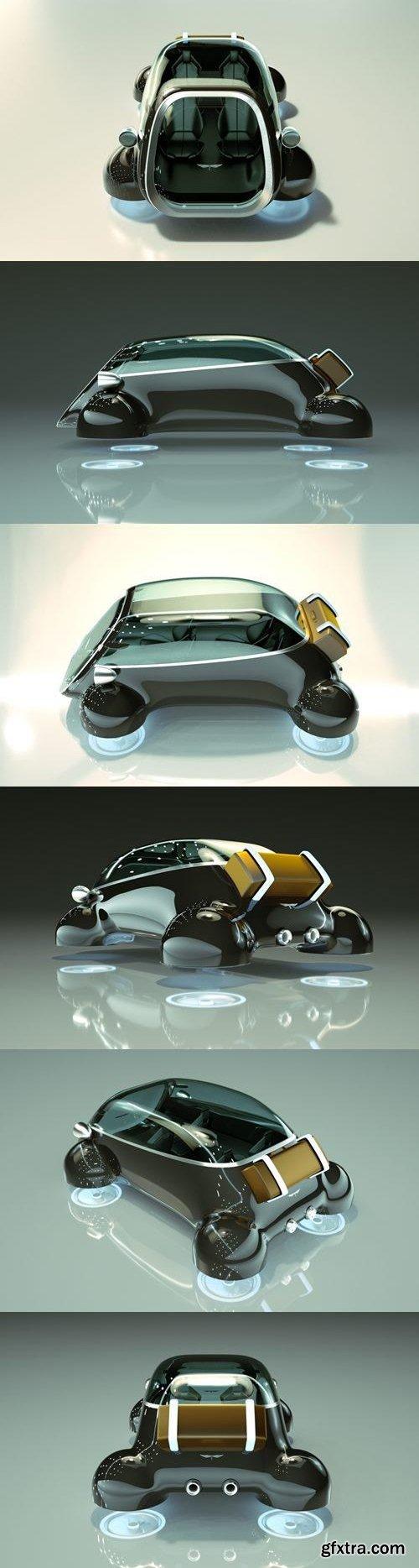 T-Hover Car 08 - 3D Model