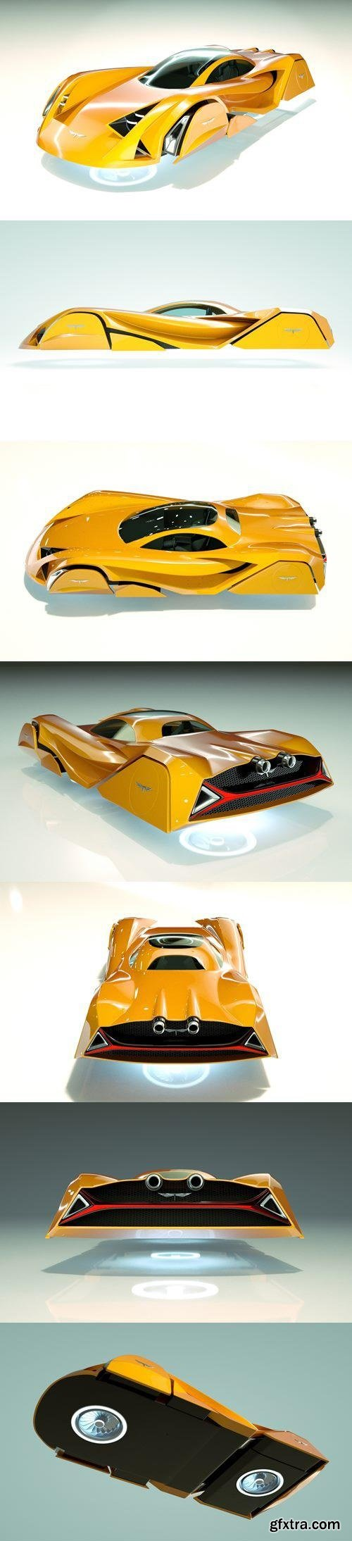 T-Hover Car 07 – Cheap & Cool series - 3D Model