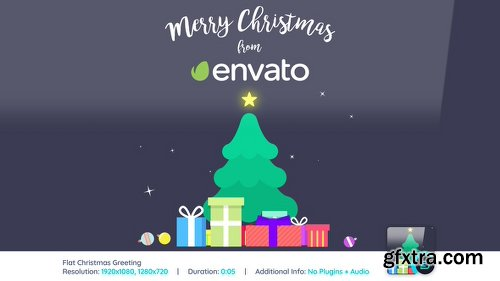 Videohive Flat Christmas Greeting 22870396