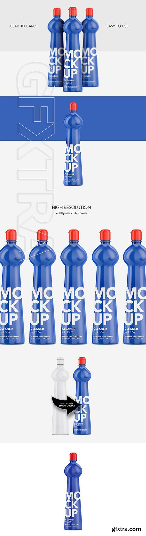 CreativeMarket - Cleaner Bottle - Glossy - Front View 2980889