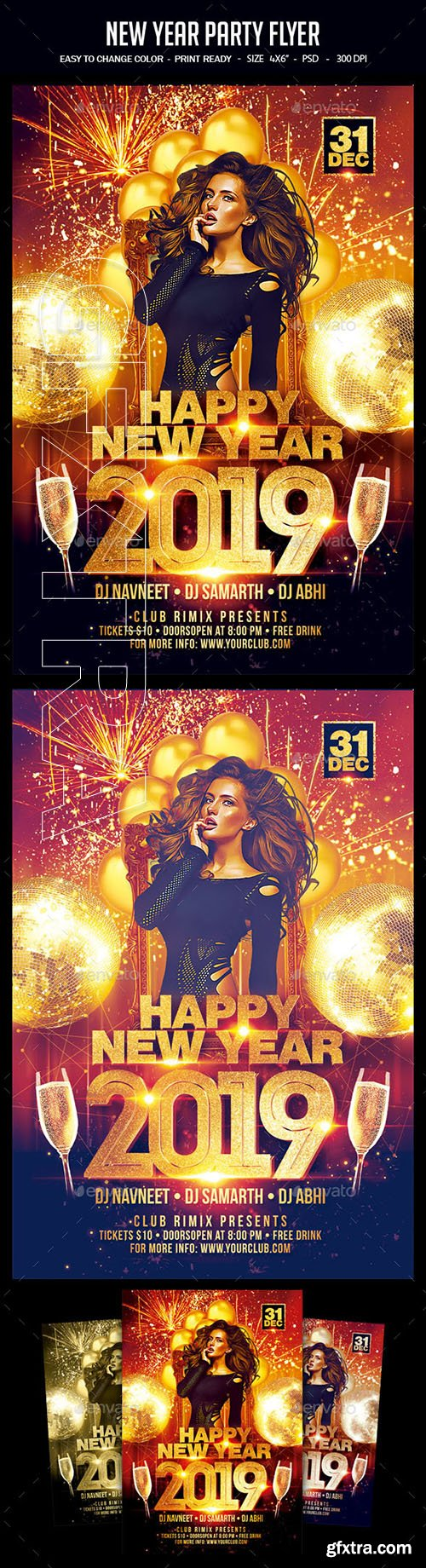 GraphicRiver - New Year Party Flyer 22803751