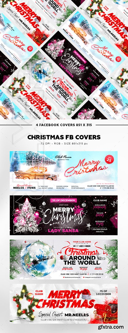 GraphicRiver - Merry Christmas Facebook Cover 22819924