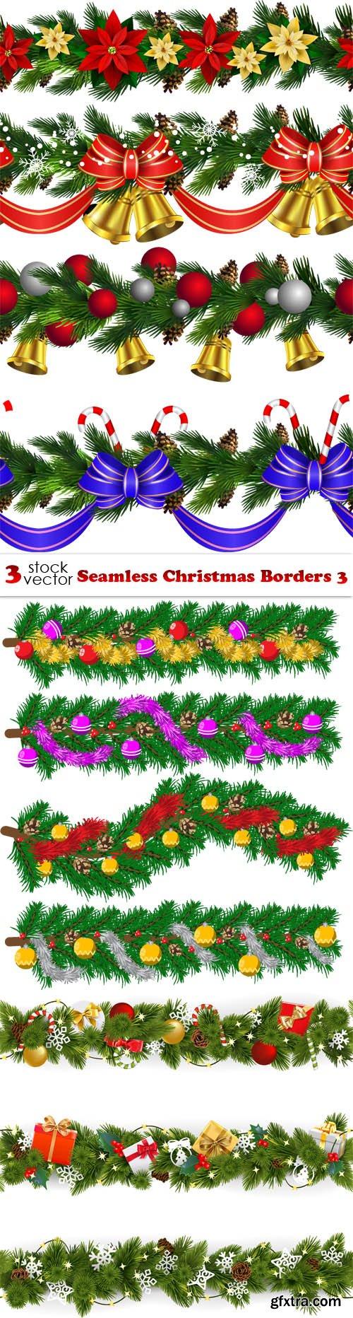 Vectors - Seamless Christmas Borders 3
