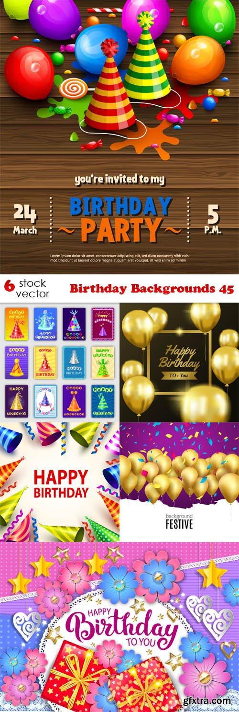 Vectors - Birthday Backgrounds 45