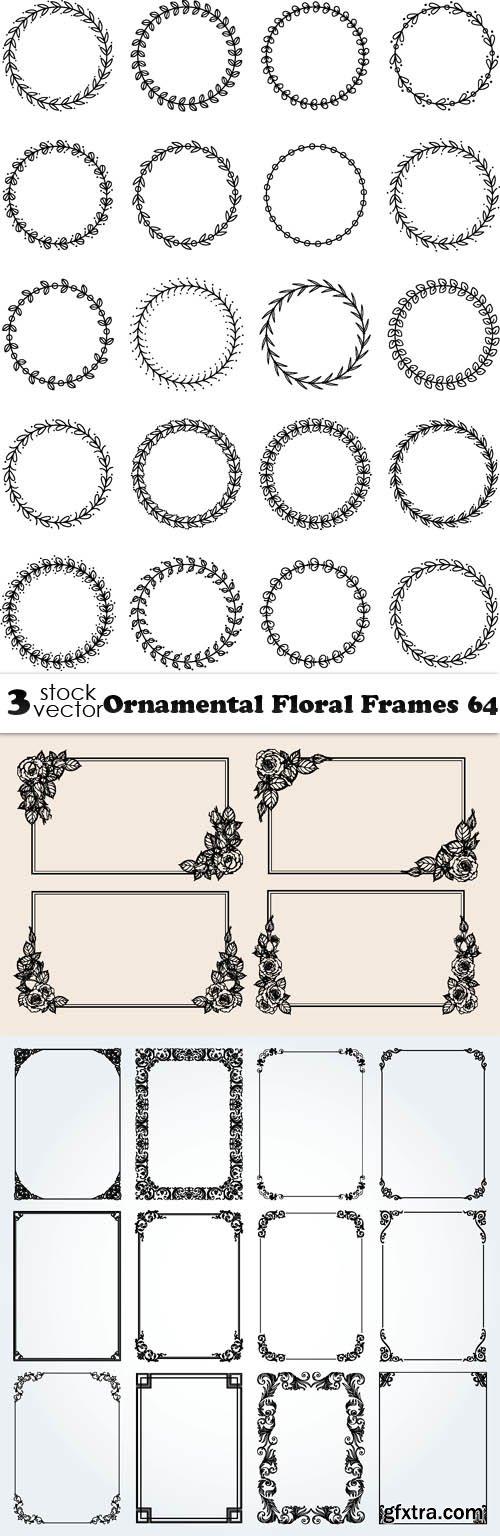Vectors - Ornamental Floral Frames 64