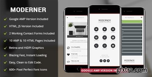 ThemeForest - Moderner Mobile v2.0 - Mobile Template & Google AMP - 4081204